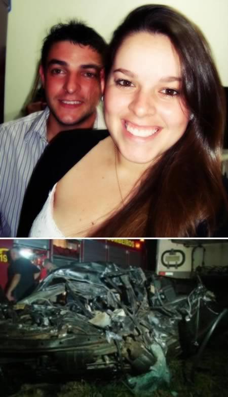 Девушка избежала пожара, но разбилась в автокатастрофе