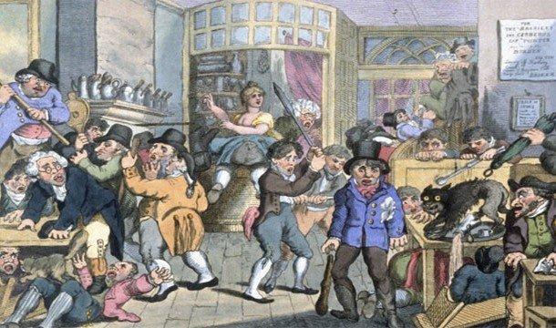 Закрытая кофейня в Англии