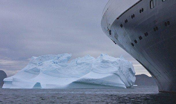 Титаник перед столкновением