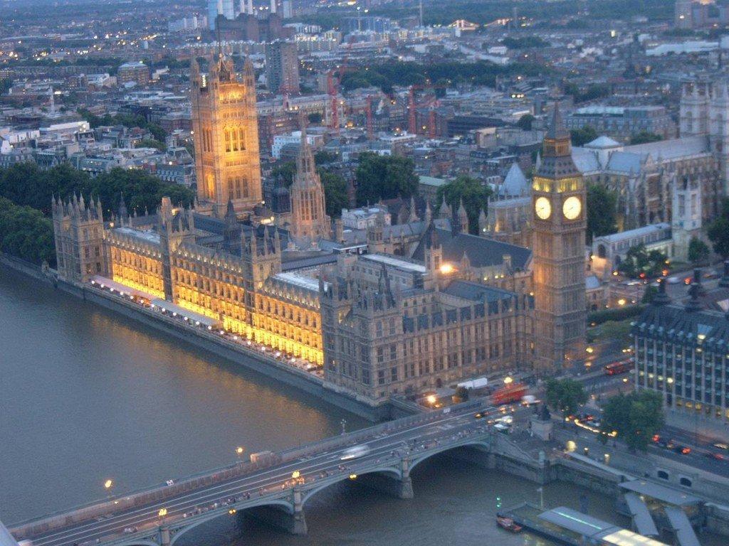 Вид Лондона с высоты