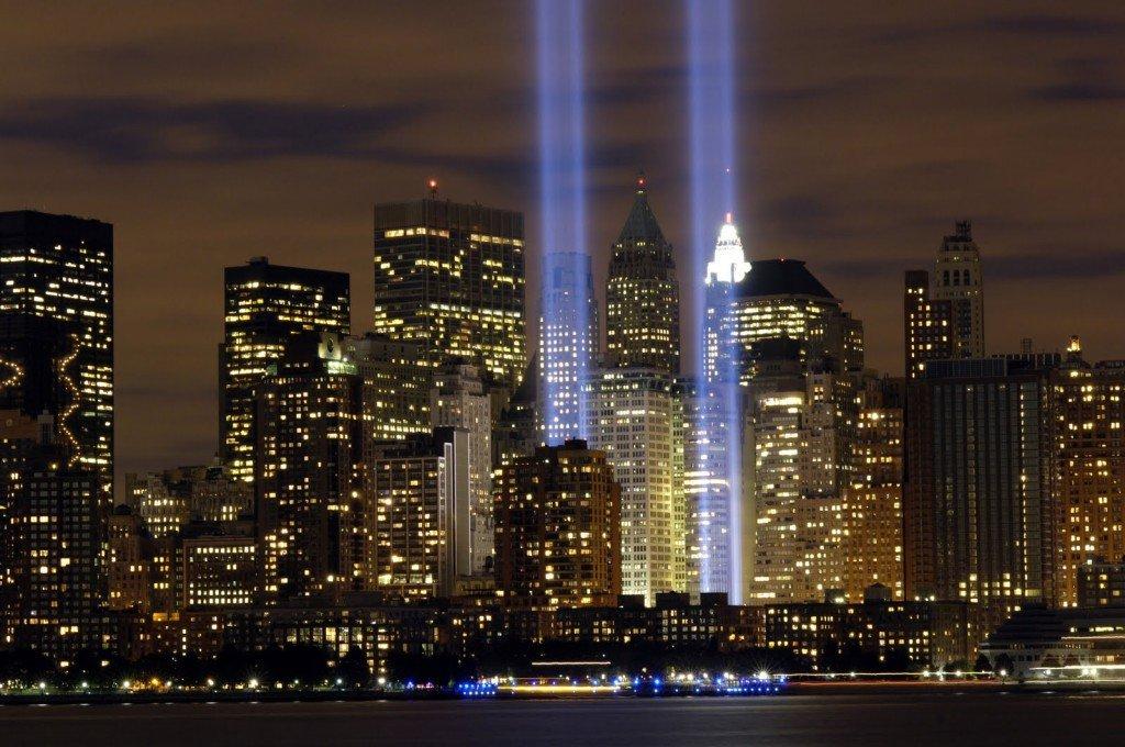 Огни ночного Нью-Йорка