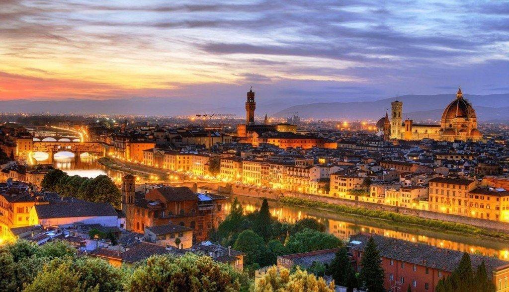 Огни ночной Флоренции