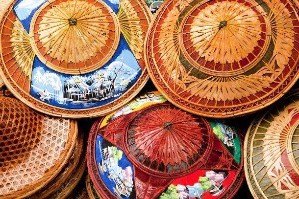 Таиландские соломенные шляпы