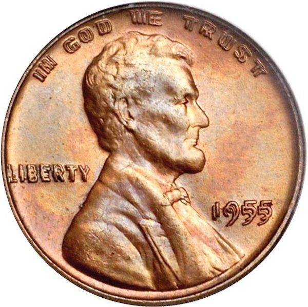 Монета с удвоенным изображением Авраама Линкольна