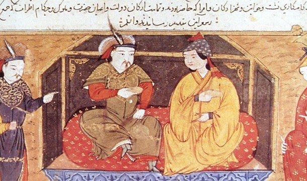 Чингисхан со своей женой