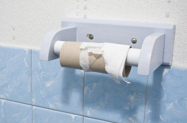 Картонная трубка от туалетной бумаги