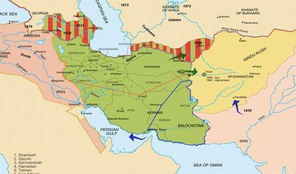 Карта Азии давние времена