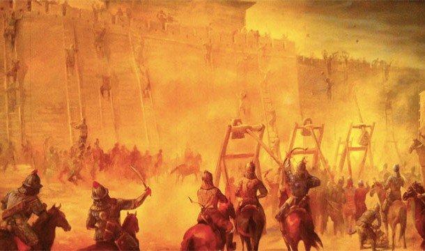 Захват крепости Монгольской армией