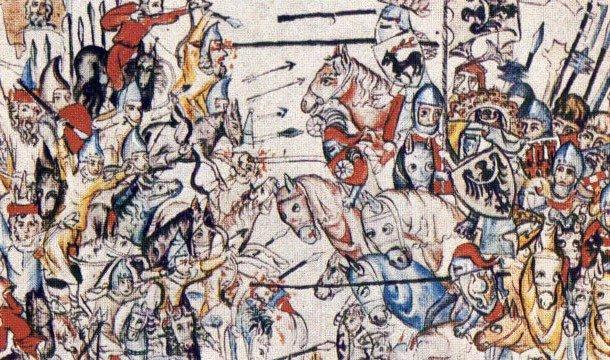 Войско Чингисхана участвует в бою