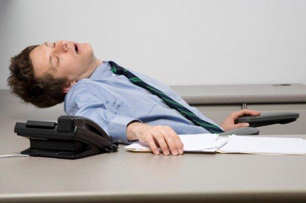 Сотрудник, который заснул на работе