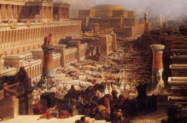 Улица в Египте, заполненная молящимися людьми