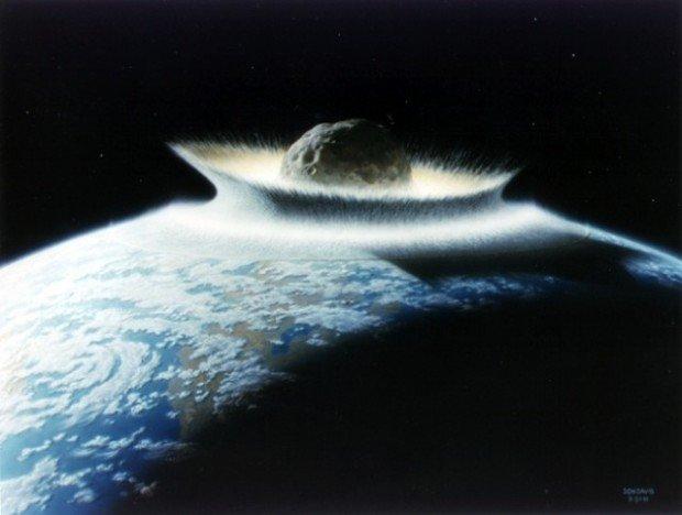 Астероид упал на Землю