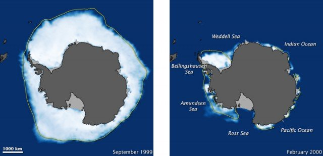 Схема ледяного покрова Антарктиды