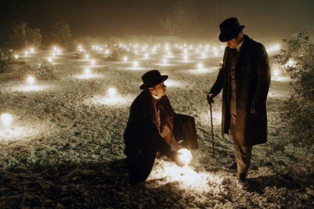 "Альфред Бордон и Роберт Анжер, кадр из фильма ""Престиж"""