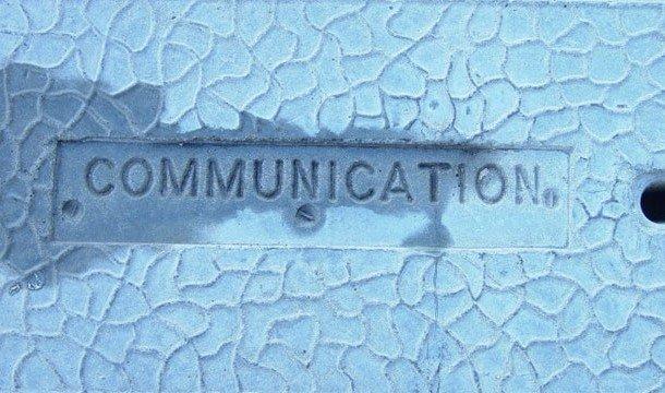 Надпись Communication