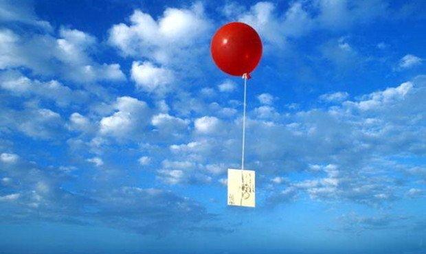 Девочки и записка в воздушном шаре