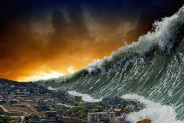 Гигантское цунами (компьютерная графика)