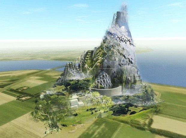 Искусственная гора в Голландии, идея