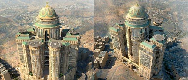 Отели-монстры Саудовской Аравии в Мекке