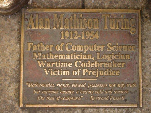 Мемориальная доска Алану Тьюрингу