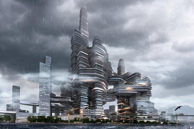 Вертикальный город в Китае