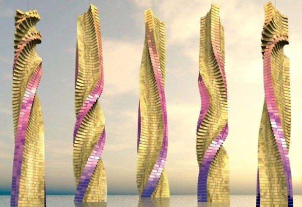 Вращающийся небоскрёб «Dynamic Tower»