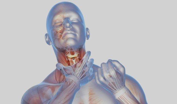 Сильная боль в горле - симптом ангины