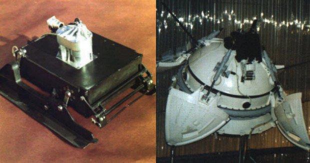 Спускаемый модель «Марса-3» и сам аппарат