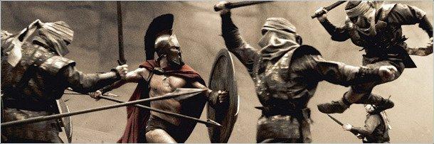 Кадр сражения изфильма 300 спартанцев
