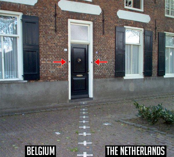 Дом, расположенный на границе Бельгии и Нидерландов