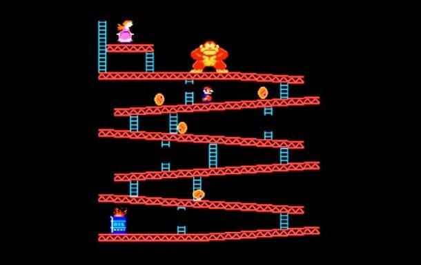 Кадр из игры Donkey Kong