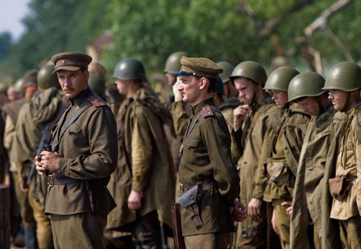 Кадр из русского военного фильма
