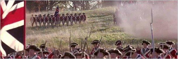 Кадр из фильма с применением линейной тактики в бою