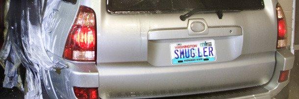 Машина с номерным знаком 'Контрабандист'