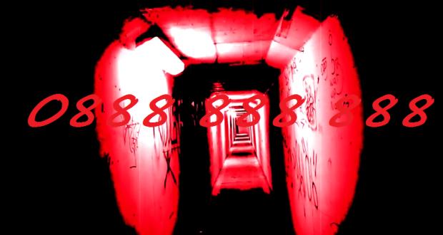 Номер 0888 888 888 на фоне мрачного тоннеля