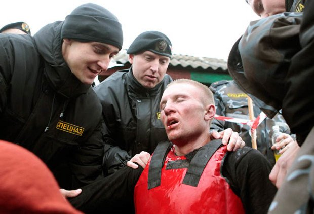 Претендент на краповый берет в Белоруссии после учебного поединка