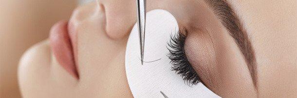 Процедура наращивания ресниц
