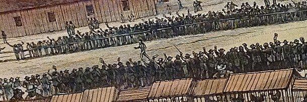 Соревнование по спортивной ходьбе в XIX веке
