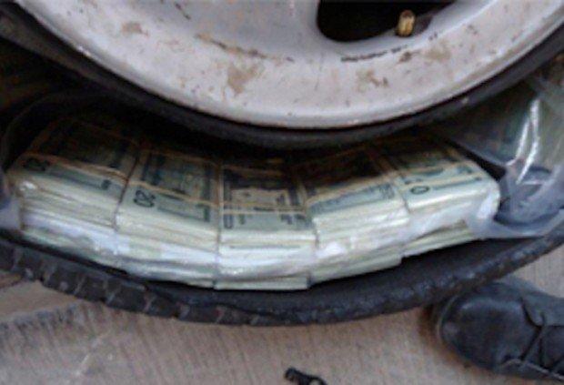 100 тысяч долларов, спрятанные внутри шины