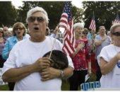 Американцы поют гимн