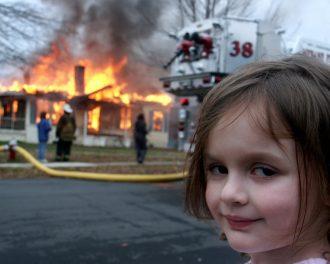 девочка и пожар