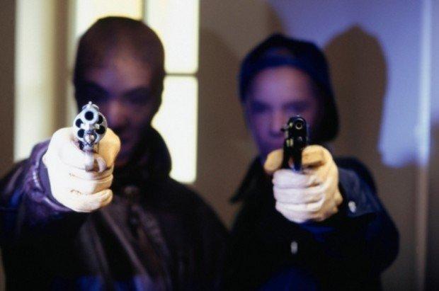 Грабители с пистолетами