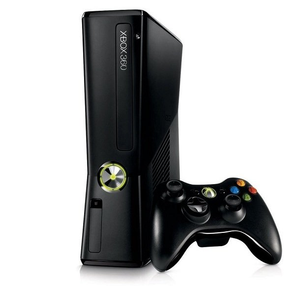 Игровая консоль Xbox 360 и джойстик