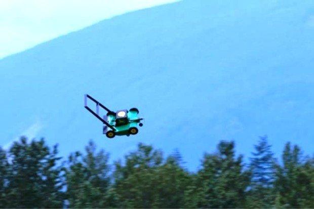 Летающая газонокосилка