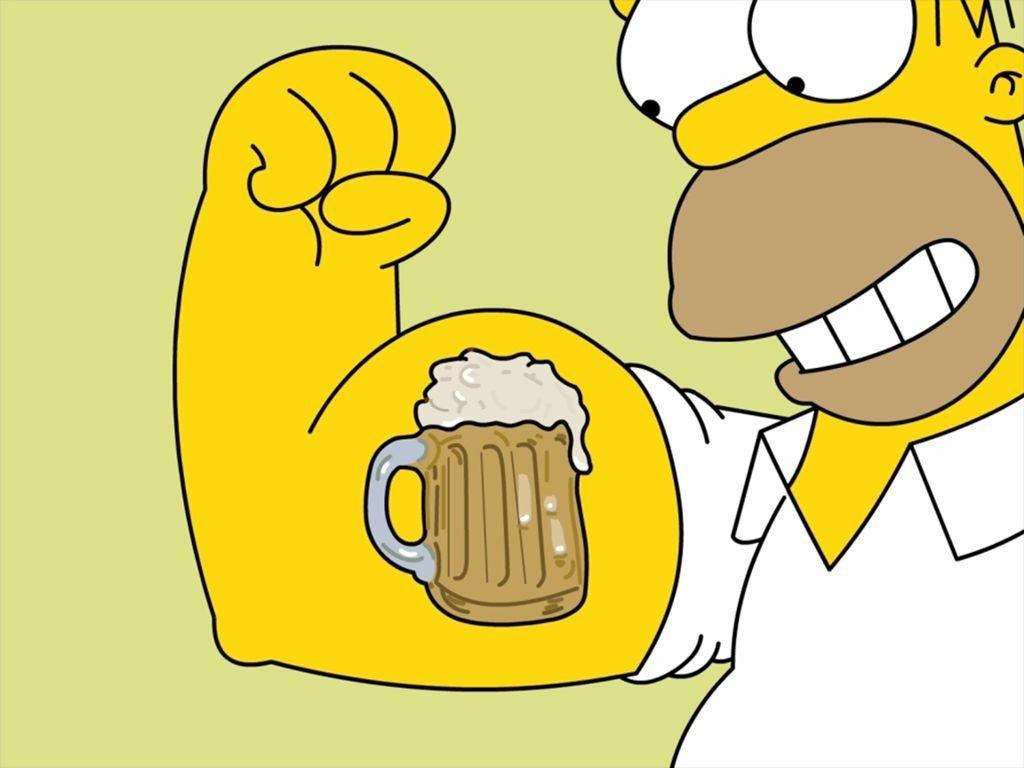 пиво и симпсон