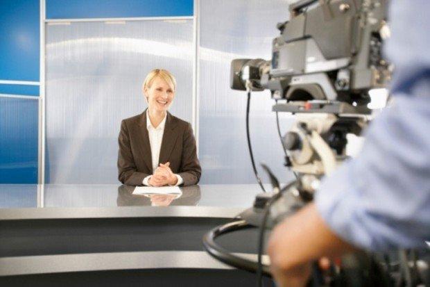 Съёмка выпуска новостей