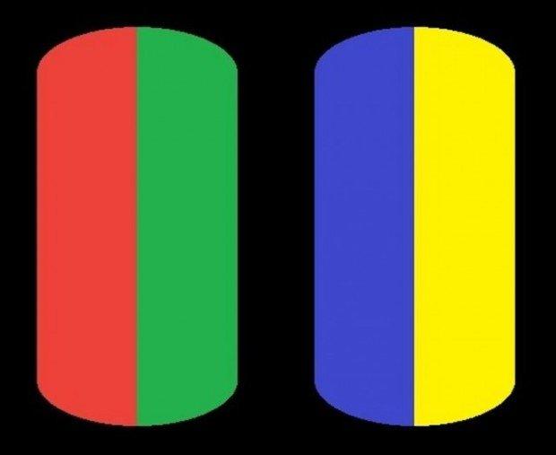 Запрещённые цвета: красно-зелёный и сине-жёлтый