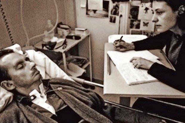 Жан-Доминик Боби и его медсестра