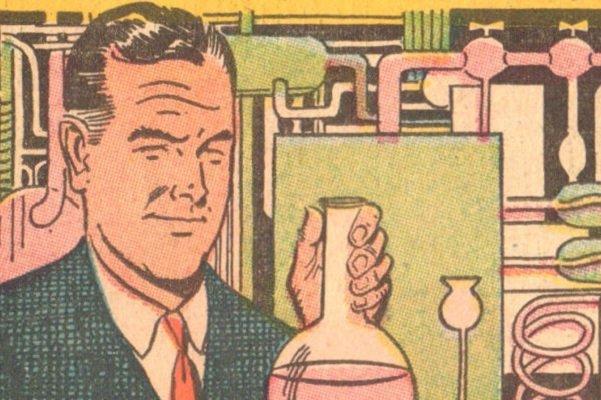 Мужчина с химикатами