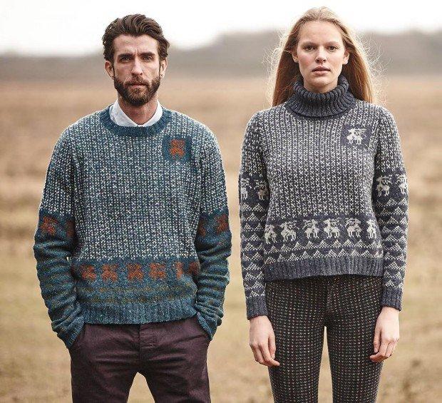 Люди в шерстяных свитерах